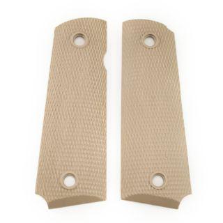 1911 Checkered Nylon Pistol Grip - Blank - Tan