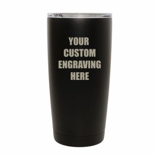 20 oz. Vacuum Insulated Tumbler - Black - Custom Engraved