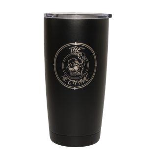 20 oz. Vacuum Insulated Tumbler - Black Powdercoat - The Mechanic