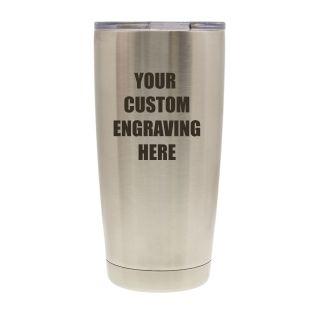 20 oz. Vacuum Insulated Tumbler - Stainless Steel - Custom Engraved