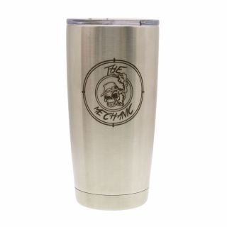 20 oz. Vacuum Insulated Tumbler - Stainless Steel - The Mechanic
