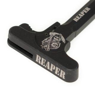 AR-10 Charging Handle - Grim Reaper - Anodized Black