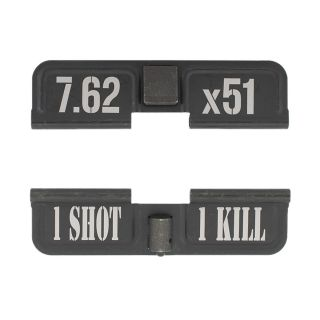AR-10 Dust Cover - 7.62x51 - 1 Shot 1 Kill - Phosphate Black