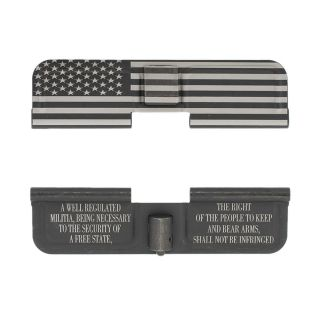 AR-10 Dust Cover - American Flag Wrap - 2nd Amendment - Phosphate Black