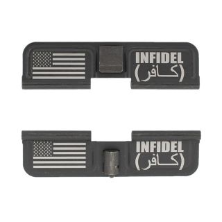 AR-10 Dust Cover - American Infidel - Double Image - Phosphate Black