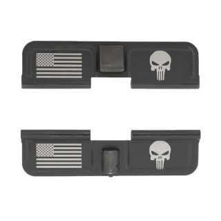 AR-10 Dust Cover - American Punisher - Double Image - Phosphate Black