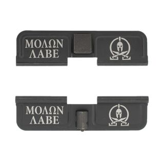 AR-10 Dust Cover - Molon Labe - Double Image - Phosphate Black
