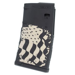 AR-10 PMAG GEN3 LRSR - American Flag  - Black (20 Round)