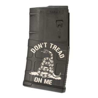 AR-10 PMAG GEN3 LRSR - Don't Tread on Me - Black (20 Round)