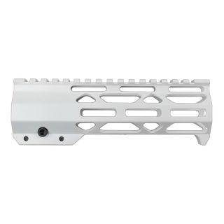 "AR-15 7"" Clamp Style Skeletonized M-LOK Free Float Handguard - Cerakote White"