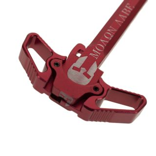 AR-15 Ambidextrous Charging Handle - Molon Labe - Anodized Red