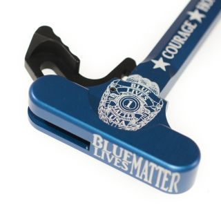 AR-15 Charging Handle - Blue Lives Matter - Anodized Blue