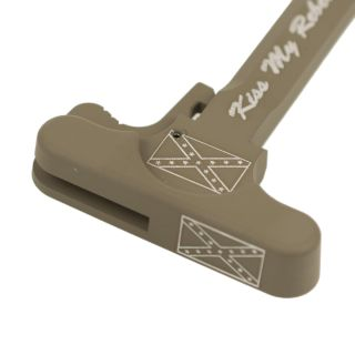 AR-15 Charging Handle - Don't Tread on Me - Cerakote Flat Dark Earth