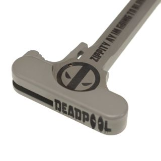 AR-15 Charging Handle - Deadpool - Cerakote Gray