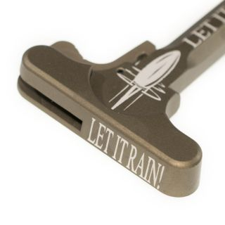 AR-15 Charging Handle - Let it Rain! - Anodized Tan