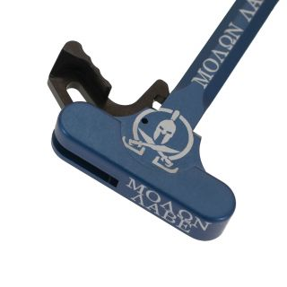 AR-15 Charging Handle - Molon Labe - Anodized Blue