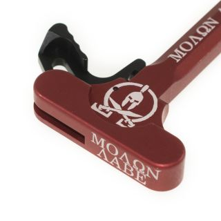 AR-15 Charging Handle - Molon Labe - Anodized Red