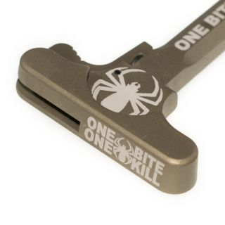 AR-15 Charging Handle - One Bite One Kill Spider - Anodized Tan