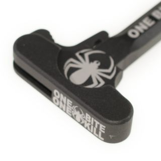 AR-15 Charging Handle - One Bite One Kill Spider - Anodized Black