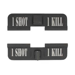 AR-15 Dust Cover - 1 Shot 1 Kill - Phosphate Black
