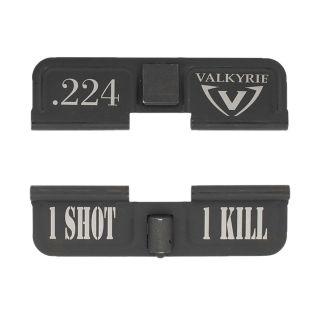 AR-15 Dust Cover - 224 Valkyrie - 1 Shot 1 Kill - Phosphate Black