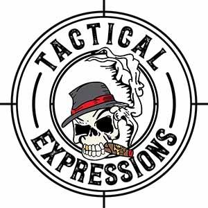 AR-15 Dust Cover - 2nd Amendment Skull Flag Wrap - You're Fucked - Cerakote White