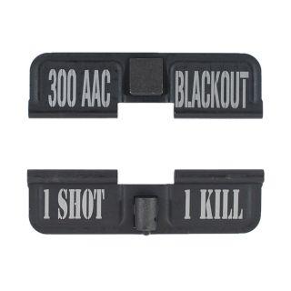 AR-15 Dust Cover - 300 AAC - 1 Shot 1 Kill - Phosphate Black
