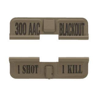 AR-15 Dust Cover - 300 AAC Blackout - 1 Shot 1 Kill - Cerakote Flat Dark Earth