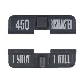 AR-15 Dust Cover - 450 BUSHMASTER - 1 Shot 1 Kill - Phosphate Black