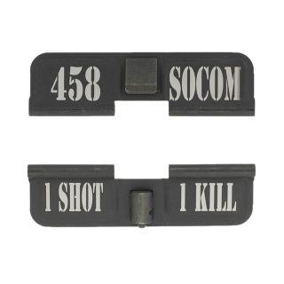 AR-15 Dust Cover - 458 SOCOM - 1 Shot 1 Kill - Phosphate Black