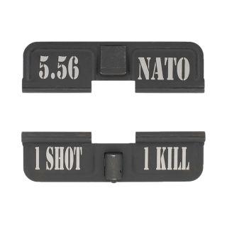 AR-15 Dust Cover - 5.56 NATO - 1 Shot 1 Kill - Phosphate Black