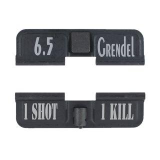 AR-15 Dust Cover - 6.5 Grendel - 1 Shot 1 Kill - Phosphate Black