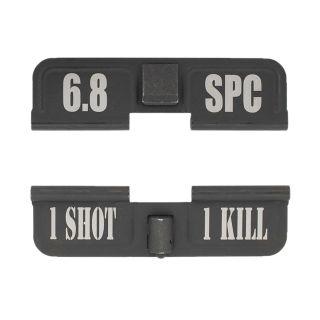 AR-15 Dust Cover - 6.8 SPC - 1 Shot 1 Kill - Phosphate Black