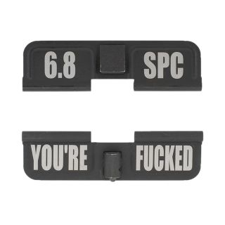 AR-15 Dust Cover - 6.8 SPC - You're Fcked - Phosphate Black