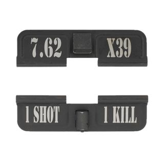 AR-15 Dust Cover - 7.62 X39 - 1 Shot 1 Kill - Phosphate Black