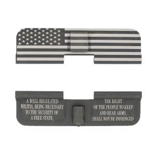 AR-15 Dust Cover - American Flag Wrap - 2nd Amendment - Phosphate Black