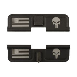 AR-15 Dust Cover - American Punisher - Double Image - Phosphate Black