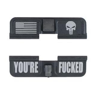 AR-15 Dust Cover - American Punisher - You're Fcked - Phosphate Black