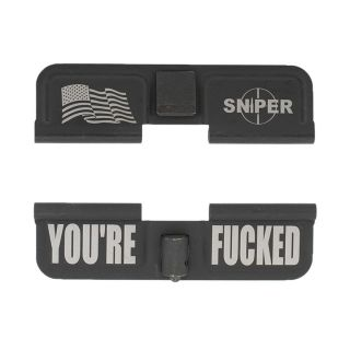AR-15 Dust Cover - American Sniper - You're Fcked - Phosphate Black