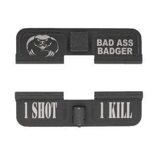 AR-15 Dust Cover - Bad Ass Badger - 1 Shot 1 Kill - Phosphate Black