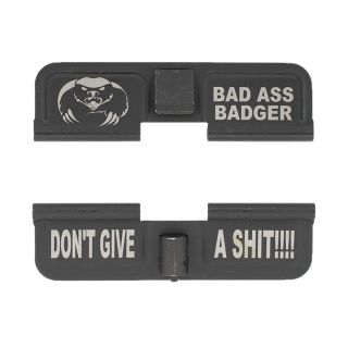 AR-15 Dust Cover - Bad Ass Badger Don't Give a Shit! - Phosphate Black