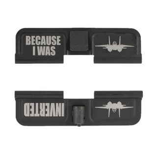 AR-15 Dust Cover - Because I Was Inverted - Phosphate Black