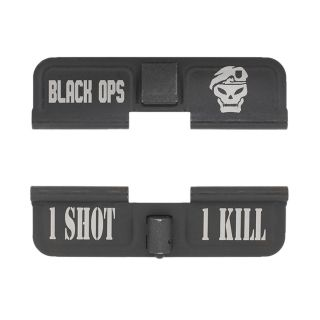 AR-15 Dust Cover - Black Ops - 1 Shot 1 Kill - Phosphate Black