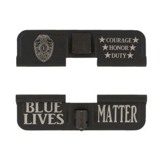 AR-15 Dust Cover - Blue Lives Matter - Phosphate Black