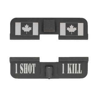 AR-15 Dust Cover - Canadian Flag 1S1K - Phosphate Black