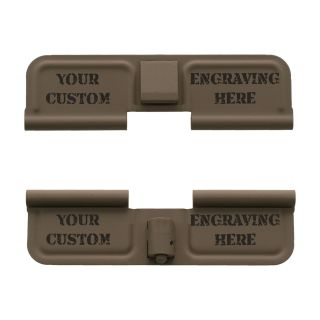 AR-15 Dust Cover - Custom Laser Engraved - Cerakote Flat Dark Earth