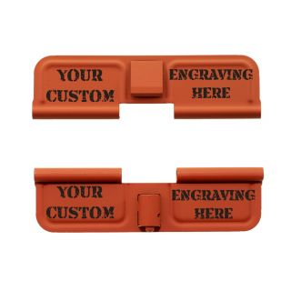 AR-15 Dust Cover - Custom Laser Engraved - Cerakote Orange