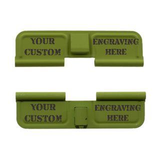 AR-15 Dust Cover - Custom Laser Engraved - Cerakote Zombie Green