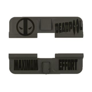 AR-15 Dust Cover - Deadpool - Maximum Effort - Cerakote Gray