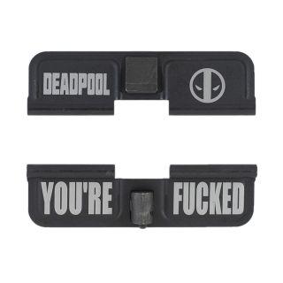 AR-15 Dust Cover - Deadpool - You're Fcked - Phosphate Black